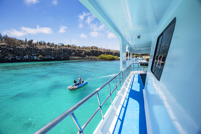 Ecuador Galapagos Yolita Boat Side Deck - Via G Adventures