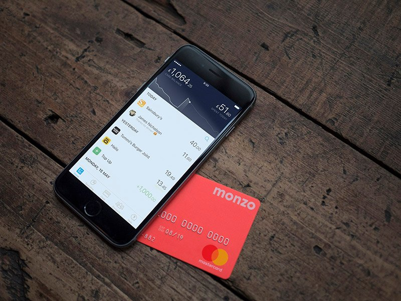 Monzo card and phone