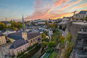 Luxembourg Skyline at sunset