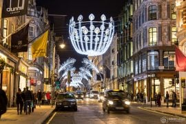 London and decorations at Christmas