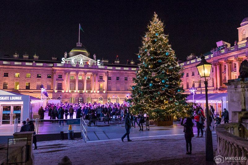 Somerset House at Christmas and the skating rink