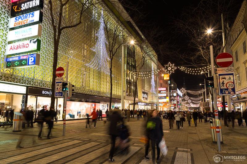 Mariahilferstrasse at Christmas