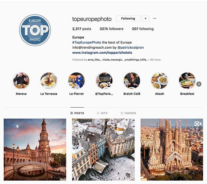 @topeuropephoto - Instagram hub profile screenshot