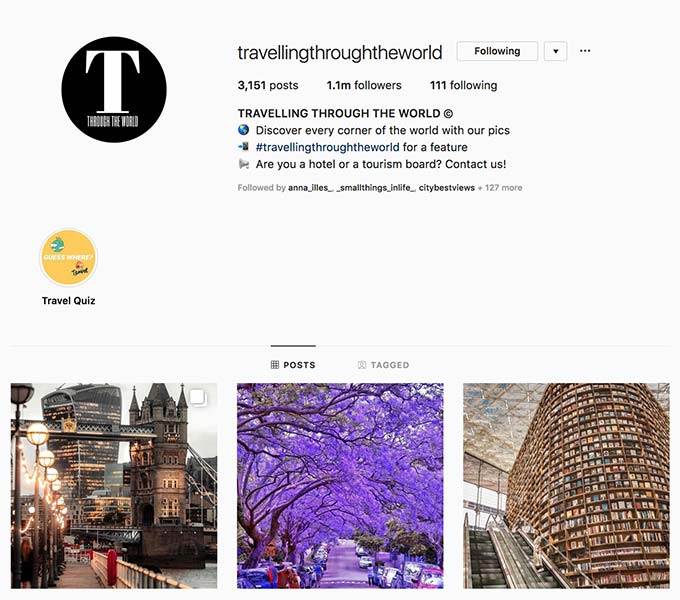 @travellingthroughtheworld - Instagram hub profile screenshot