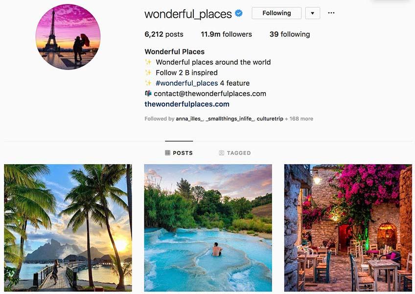 @wonderful_places - Instagram hub profile screenshot