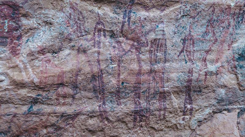 Bushman paintings just outside of Malealea - Lesotho