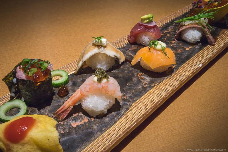 Colourful Sushi at Nanairo Temariuta - Tokyo