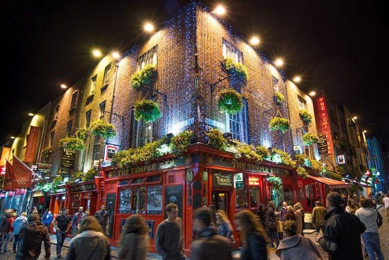 Dublin, Ireland at night - Temple bar