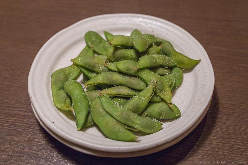 Edamame Japanese dish