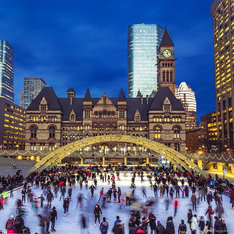 Ice Skating during the winter - By @mikecleggphoto :TravelAndDestinations