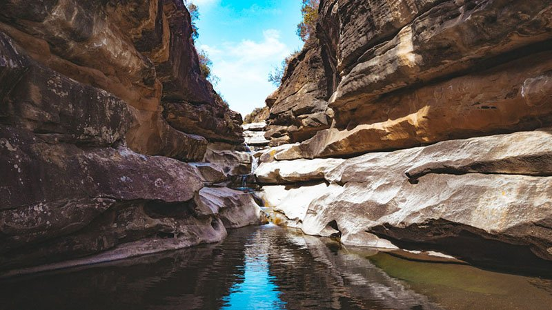 Rock pools in the Pitseng Canyon - Lesotho