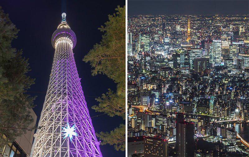 Tokyo-Skytree-and-views-at-night
