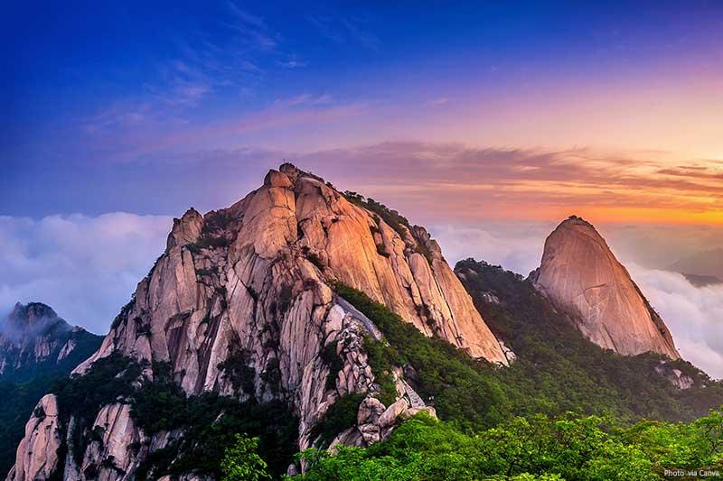 Bukhansan mountains, South Korea