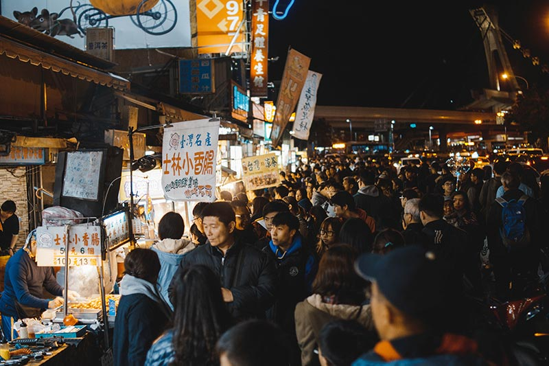 Shilin Night Market, Taiwan by Max oh - via unsplash
