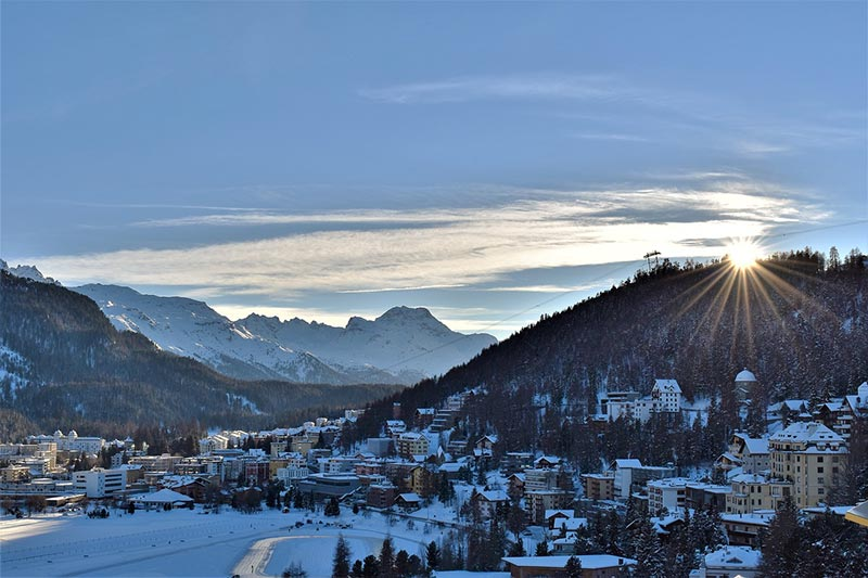 St Moritz - Switzerland in the winter