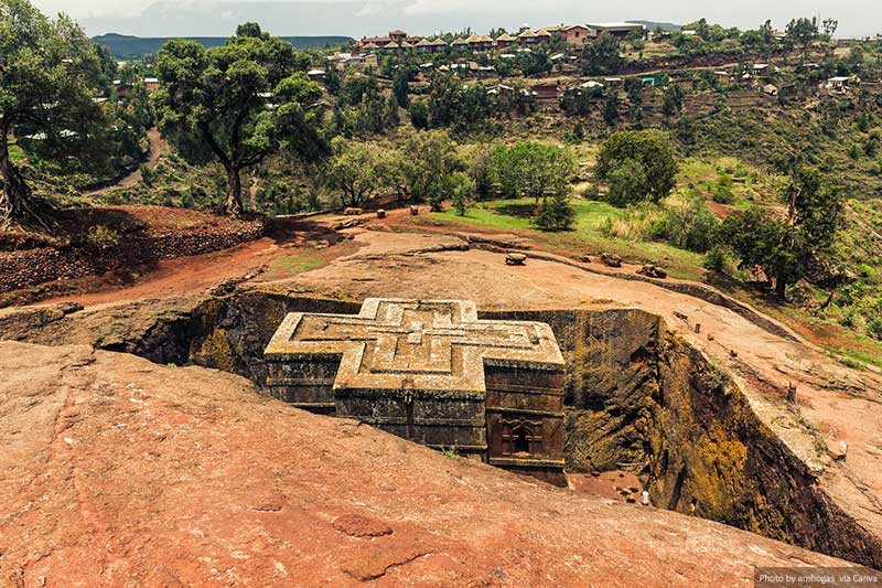 St. George Church in Lalibela Ethiopia (Rock Churches)