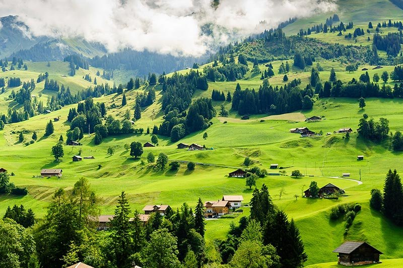 Switzerland landscape