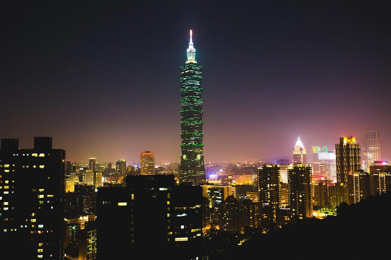 Taipei 101 Tower at night