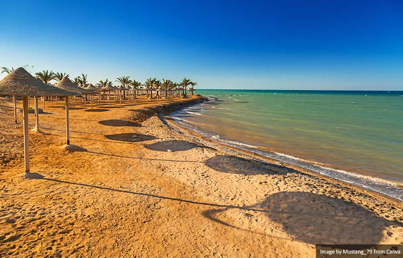 Beach at Red Sea in Hurghada