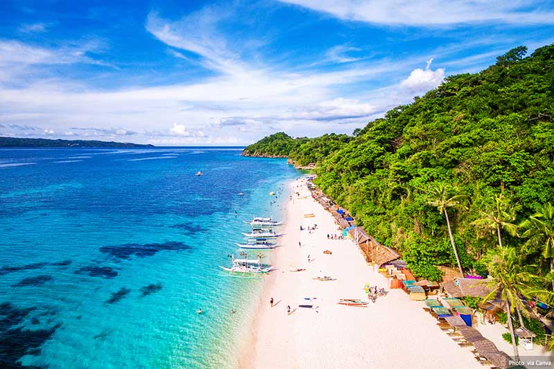 Beaches and scenic views of Boracay Island, Philippines