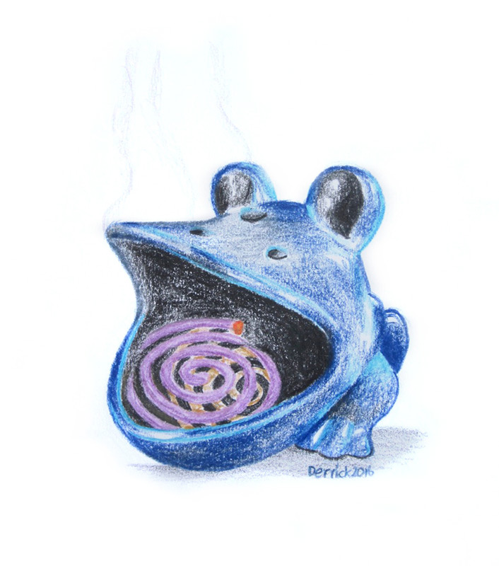Blue Frog in Malaysia | Sketch by Derrick Theys