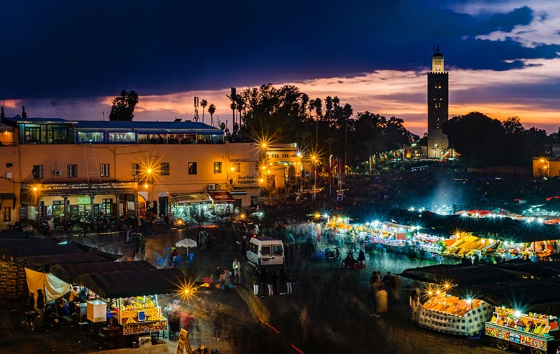 Marrakesh at night