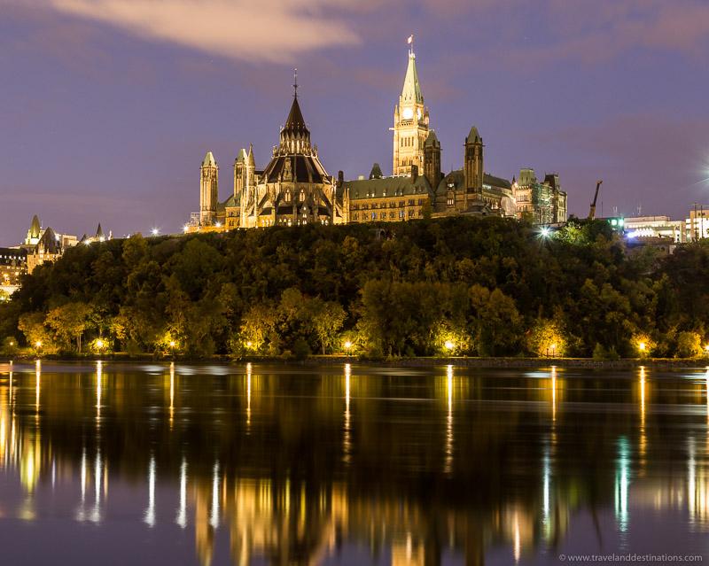 Ottawa Parliament at night