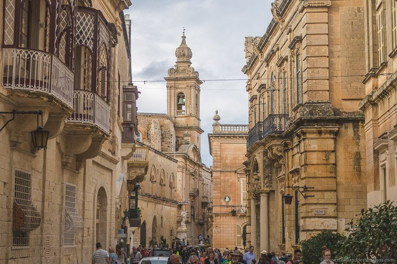 Streets and architecture in Mdina
