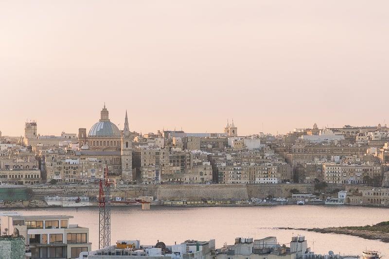 Valletta Skyline from Sliema