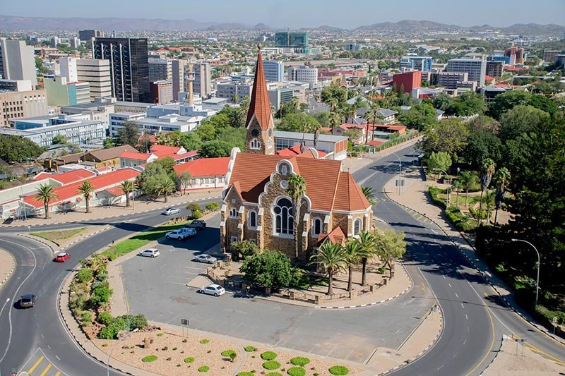 Windhoek, Namibia by wboroma via Pixabay