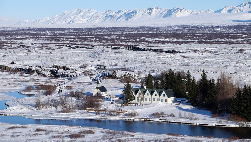 (Þingvellir) Thingvellir National Park, Iceland - Winter