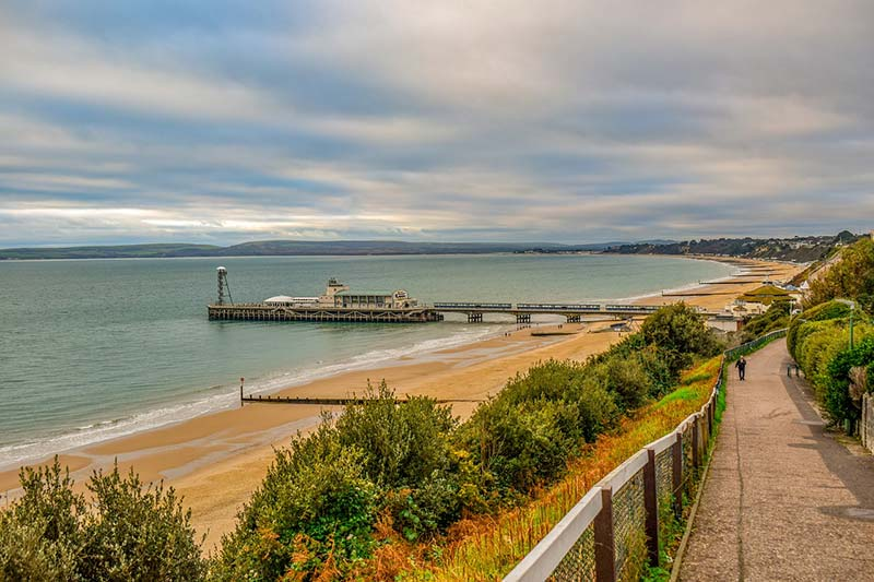 Bournemouth beach, England