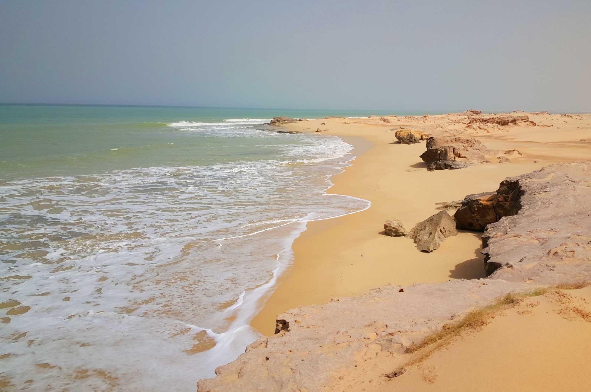 Coast along Mauritania