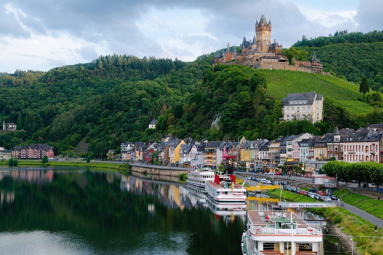 Cochem along Moselle Valley river