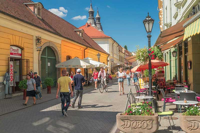 Eger streets in Hungary
