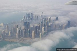 Qatar and Doho from above