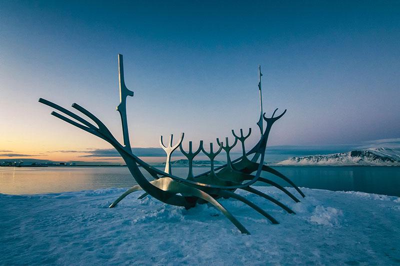 Sun Voyager sculpture, Iceland