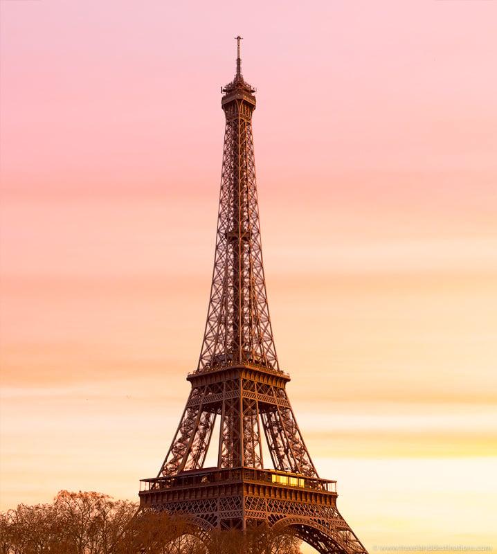Eiffel Tower, Paris at sunset