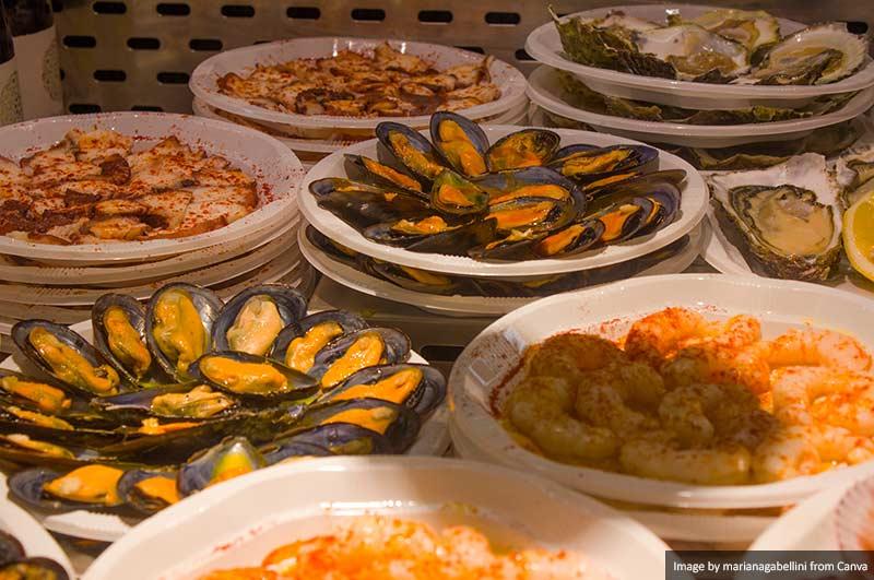 Food at Mercado San Miguel