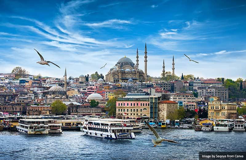 Стамбульский горизонт 10 лучших мест для посещения в Турции 10 лучших мест для посещения в Турции Istanbul skyline