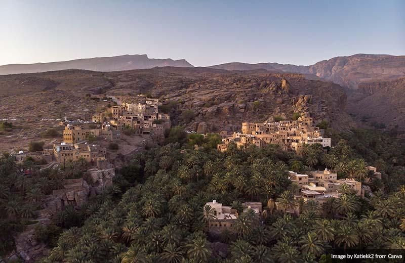 Misfat al Abriyeen village in Oman