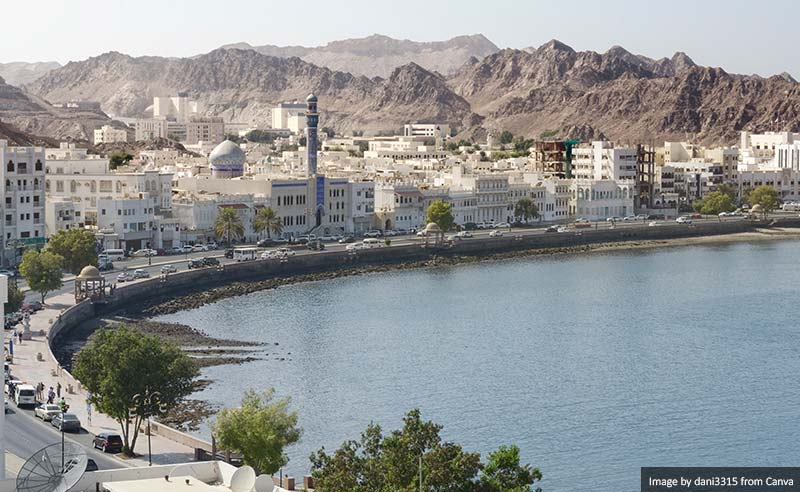 Muscat's old town, Muttrah, Oman