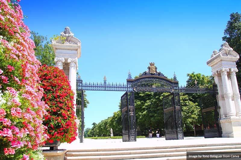Retiro Park Door Madrid