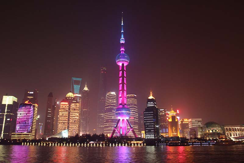 Shanghai Oriental Pearl TV Tower at night