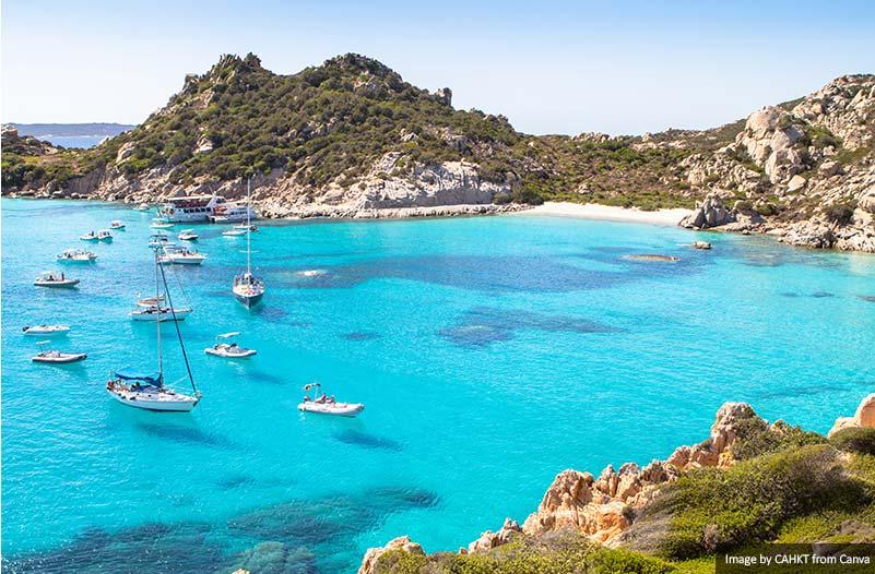 Spiaggia di Cala Corsara, Sardinia island