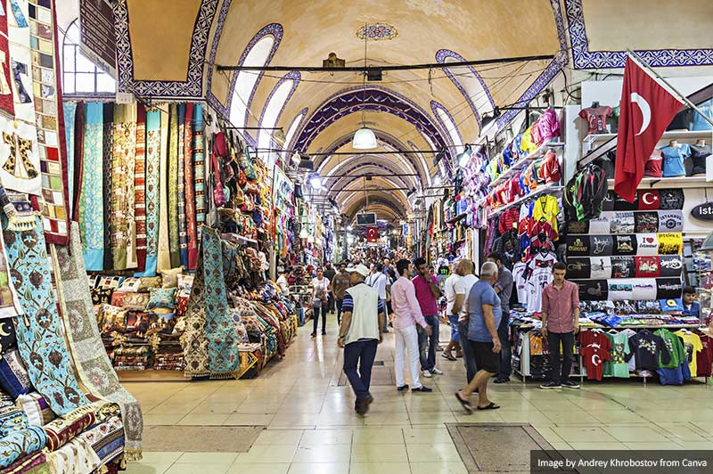 The Grand Bazaar interior