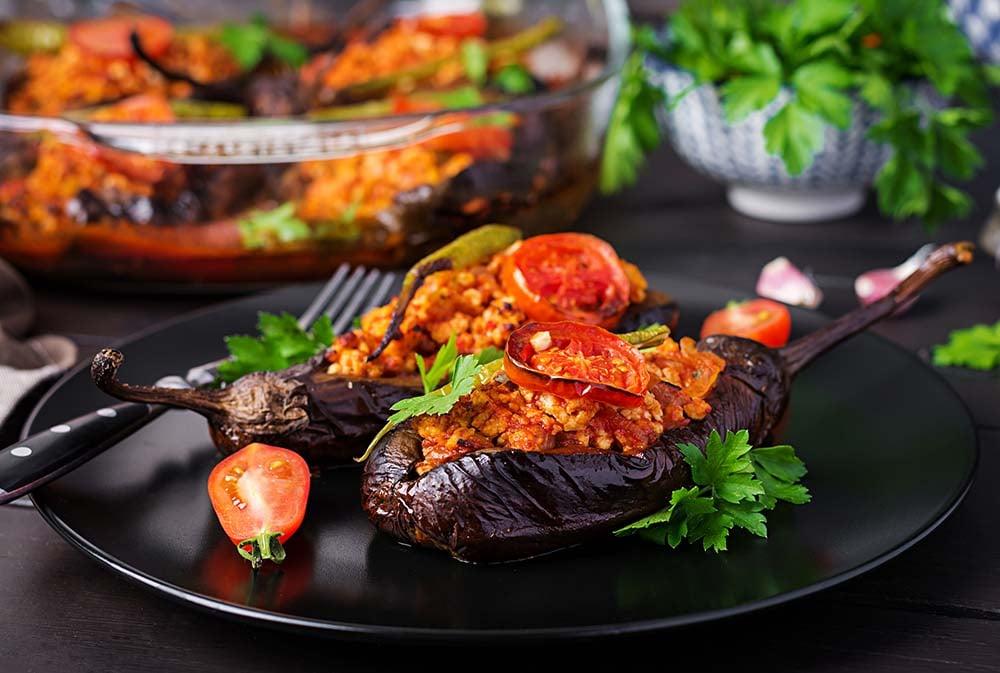 Turkish Karniyarik dish