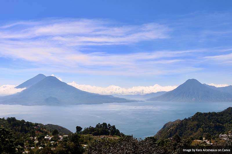 Volcanoes and Lake Atitlán