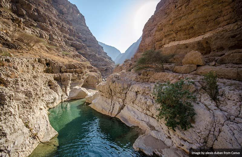 Wadi Shab natural pools