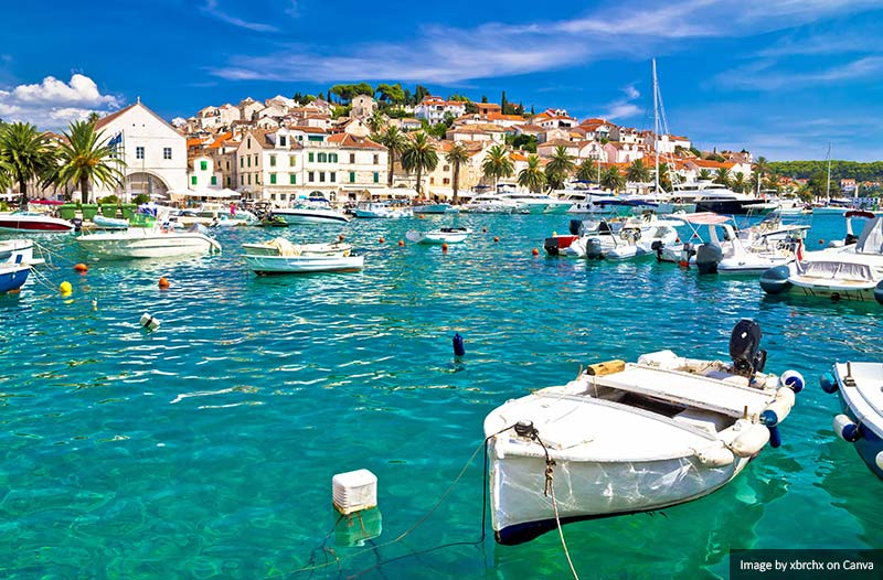 Waterfront of Hvar island